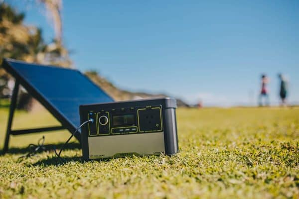 Lithium Yeti 400 Portable Recharger with Boulder 50 Portable Solar Panel 1