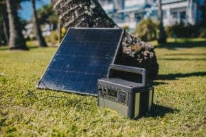 Lithium Yeti 400 Portable Recharger with Boulder 50 Portable Solar Panel